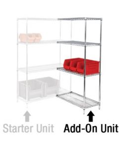 Adjustable Open Wire Shelving Add-On Units