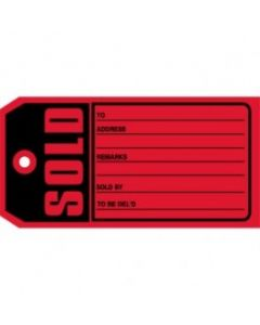 Sold Tags - 10 Point Card Stock