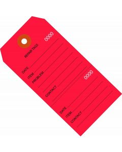 Repair Tags - Consecutively Numbered